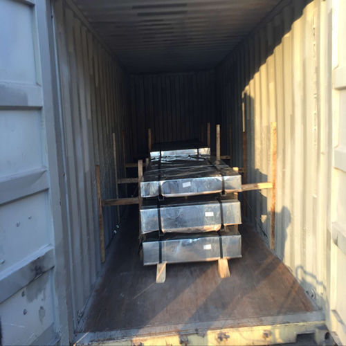 High Standard Loading container for Galvanized Steel Sheet