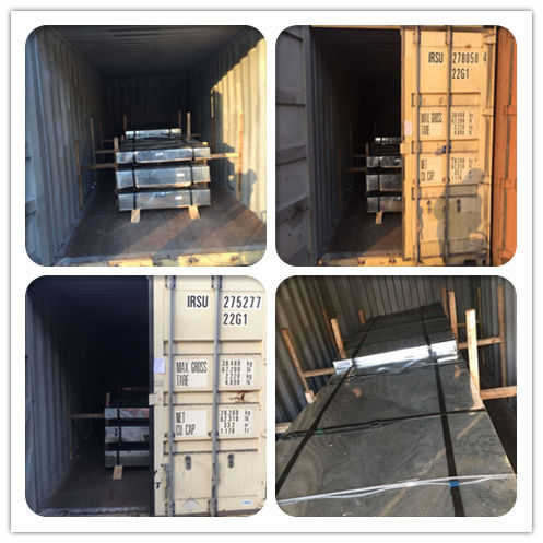 Galvanized Sheet was loaded into the 20' GP Container