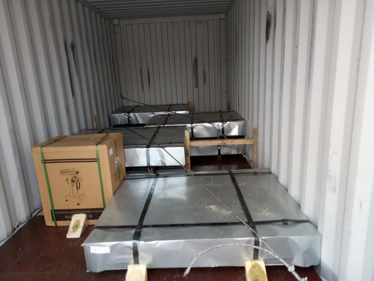loading container detail for cold rolled steel sheet