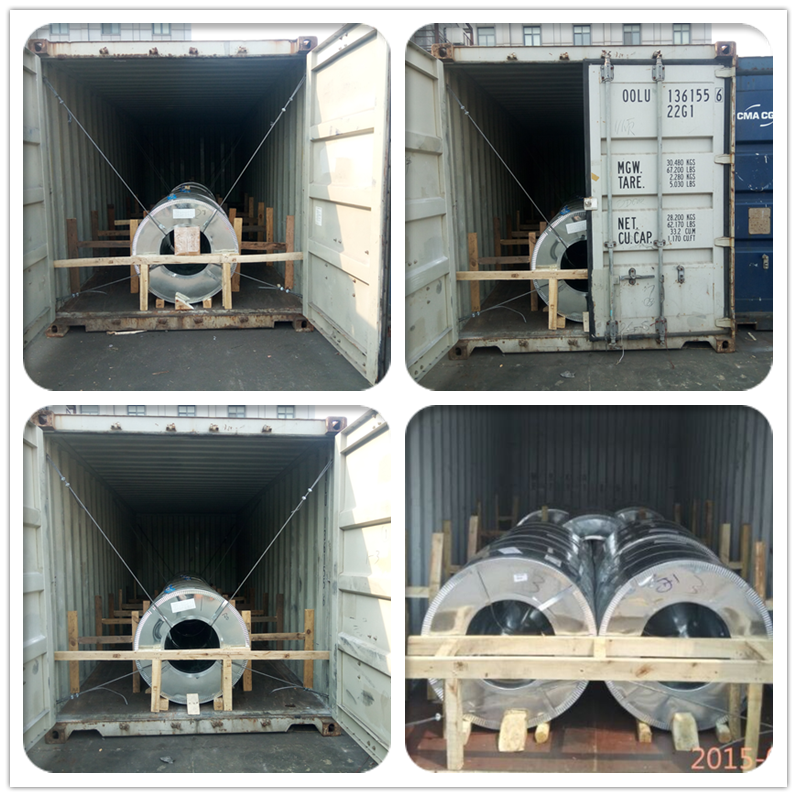 The Loading Container Detail of Galvanized Steel Coil