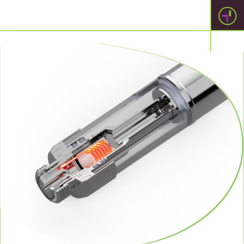 Transpring Full Ceramic Vape Cartridge A3-C for Herbal Extracts