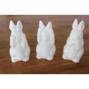 PAINTED RABBIT LED WAX CANDLE YH1