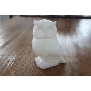 PAINTED OWL LED WAX CANDLE YH5