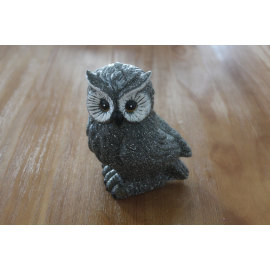 PAINTED OWL LED WAX CANDLE YH8