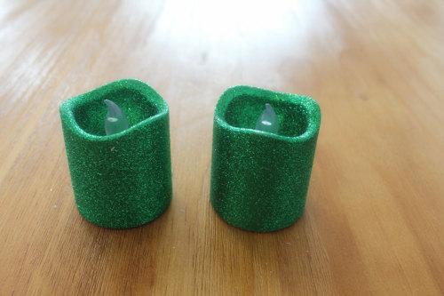 GREEN LED PLASTIC CANDLE YM20