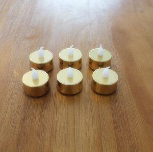 GOLD LED PLASTIC CANDLE YM23