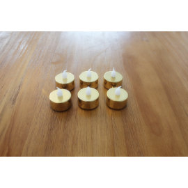 GOLD LED PLASTIC CANDLE YM23