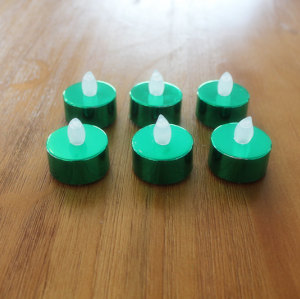GREEN LED PLASTIC CANDLE YM24