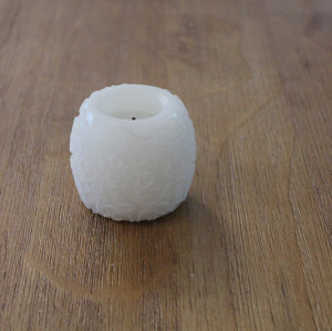 WHITE MINI LED WAX CANDLE YM2