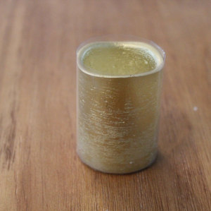 GOLD PAINTED LED WAX CANDLE YM111