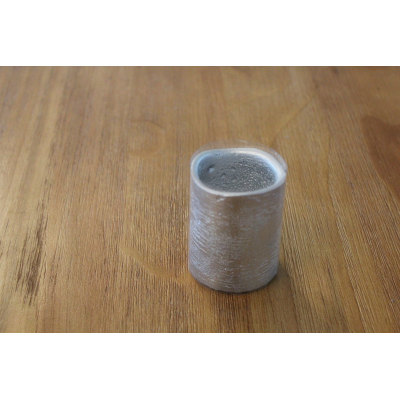 SILVER PAINTED LED WAX CANDLE YM13
