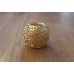 GOLD PAINTED LED WAX CANDLE YM16