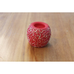 RED PAINTED LED WAX CANDLE YM17