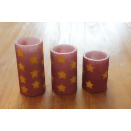 STAR PAINTED SURFACE LED WAX CANDLE YT12