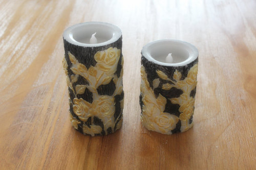 SURFACE PAINTED LED WAX CANDLE YT15