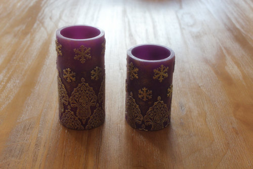 BAROCO STYLE PAINTED SURFACE LED WAX CANDLE YT17