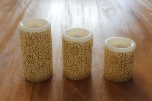PAINTED SURFACE LED WAX CANDLE YT18