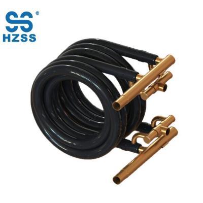 هانغتشو أنظمة مزدوجة لفائف محوري الفولاذ المقاوم للصدأ والنحاس مبادل حراري لأنبوب مكيف الهواء والمبخر