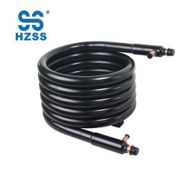HZSS tubo de doble tubo de fabricación de alto rendimiento en intercambiador de calor de cobre tubo para máquina de hielo
