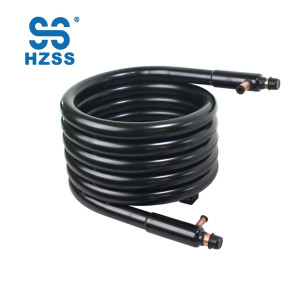 HZSS high performance manufacture double pipe tube in tube copper heat exchanger for ice machine