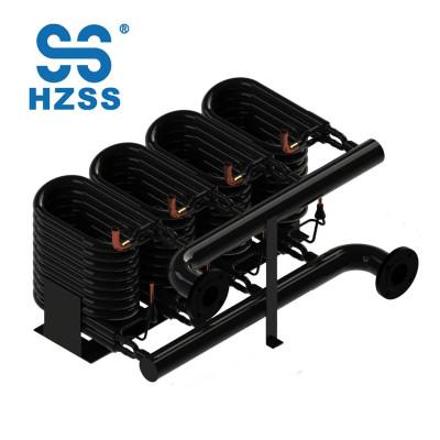 48 HP التدفئة مضخة الحرارة عالية الأداء ثمانية أنظمة أنبوب في أنبوب مبادل حراري النحاس