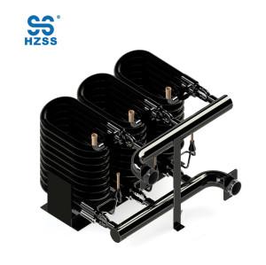 36HP عالية الكفاءة المزدوجة أنابيب النحاس الصلب في أنبوب أنبوب مبادل استرداد الحرارة المحورية