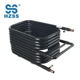 HZSS عالية الأداء أنبوب مبادل حراري المحورية في أنبوب النيكل الأبيض النحاس ثاني أكسيد الكربون مضخة الحرارة