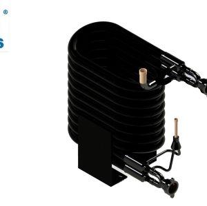 12HP hecho en el tubo de cobre doble del acero de China en la pompa de calor del intercambiador de calor del aire del agua coaxial del tubo de tubo
