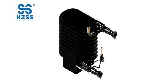 12hp المصنوعة في الصين مزدوج أنابيب الصلب النحاس في أنبوب أنابيب المياه محوري مبادل حرارة الهواء مضخة الحرارة