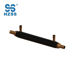HZSS hot selling copper tube in tube pipe hot and cold exchange coaxial heat exchanger economizer