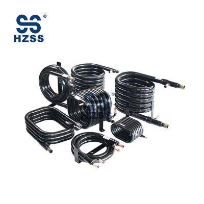 HZSS SS-0050GT المكثف والمبخر ل WSHP لفائف محوري مبادل حراري