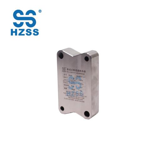 HZSS 80 KW قدرة أعلى بيع الفولاذ المقاوم للصدأ / التيتانيوم لوحة قناة الصغرى مبادل حراري