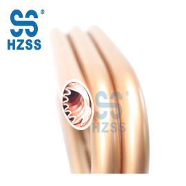 HZSS عالية الجودة مزدوجة أنابيب نحاسية مزدوجة الجدار المكثف لفائف مبادل حراري المحورية