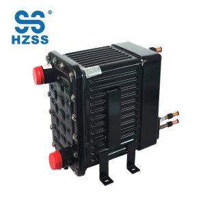 HZSS CE/UL certification plastic steel shell&pipe heat exchanger cupronickel pipe heat exchanger condenser/evaporator