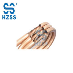 HZSS double wall condenser coil coaxial heat exchanger copper tube