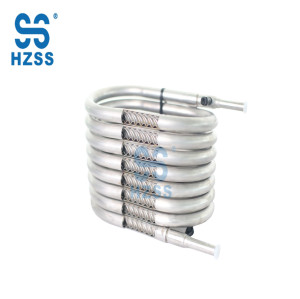 Stainless steel heat exchanger for food and beverages
