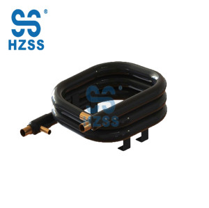 HZSS square type copper tube coaxial heat exchanger low price