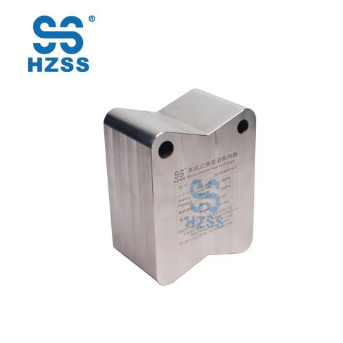 HZSS micro-channel heat exchanger titanium/stainless steel/aluminum plate