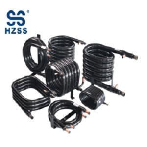 HZSS trombone type copper tube heat exchanger for condenser/evaporator
