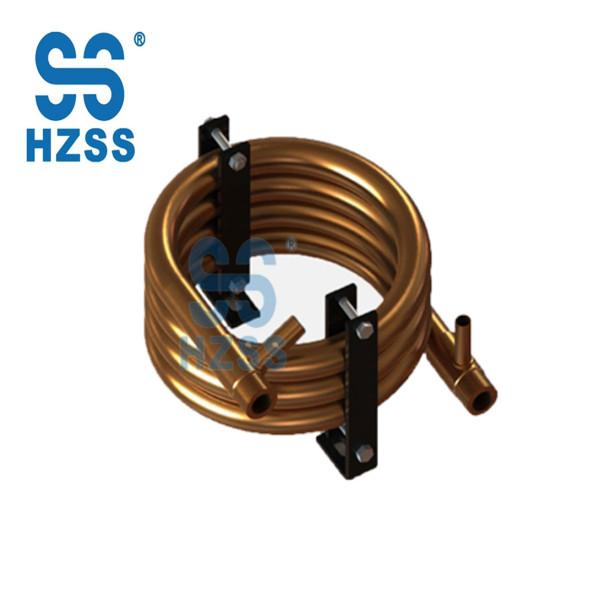 Hangzhou heat exchanger manufacturer round copper coaxial heat exchanger
