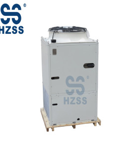Air conditioning cold storage evaporative condenser heat exchanger
