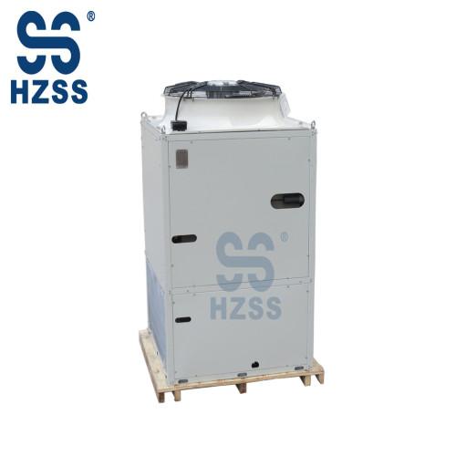 Air conditioning cold storage evaporative condenser heat exchanger