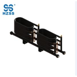 Cuatro sistemas de tubo de acero de latón de cobre titanio intercambiador de calor de la bomba de calor del condensador enfriador coaxial