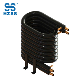 Tubo de cobre doble de los sistemas de Zhejiang en cambiador de calor del punp de calor del evaporador del purificador del agua coaxial del tubo