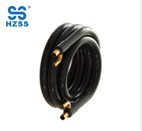 Solo tubo de cobre del sistema de HZSS en cambiador de calor coaxial de la pompa de calor del evaporador marino de la tubería del tubo