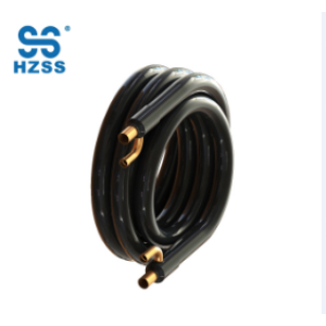 HZSS single system copper tube in tube pipe coaxial marine evaporator heat pump heat exchanger