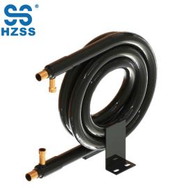 HZSS حار بيع أنبوب في أنبوب coaxial لفائف الفولاذ المقاوم للصدأ والنحاس مبادل حراري الأنابيب