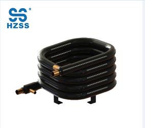 Tubo doble del tubo del acero inoxidable del cobre del solo sistema de HZSS en cambiador de calor coaxial de la bomba de calor del agua al aire
