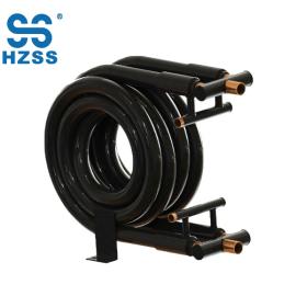 Tubo doble del tubo del cambiador de calor de la fabricación del alto rendimiento de China en el tubo intercambiador coaxial de la bomba de calor de la bobina del acero inoxidable del cobre