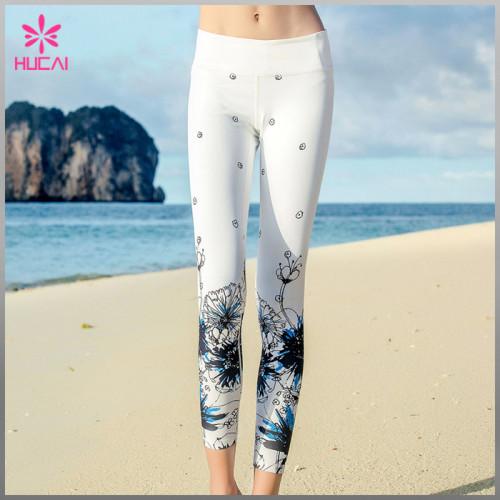 Wholesale Polyester Spandex Sexy Leggings Women Capri Sublimation Yoga Tights